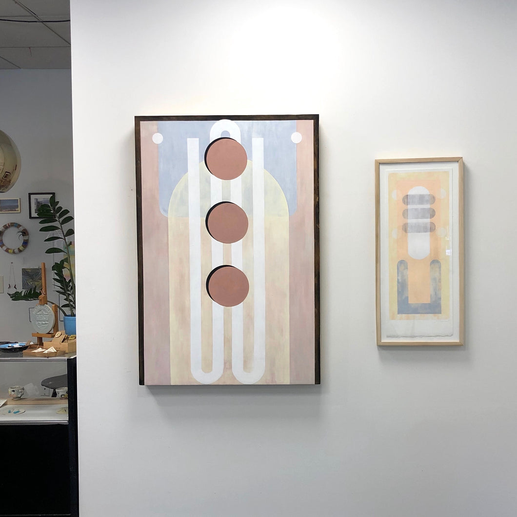 "Stephanie Brewer, ""Temple to the Unknown"" (left)"