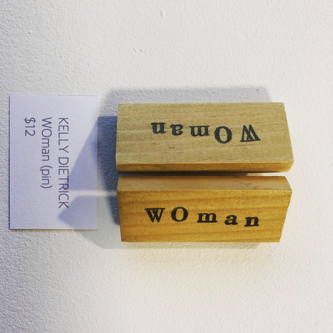 WOman pin, Kelly Dietrick