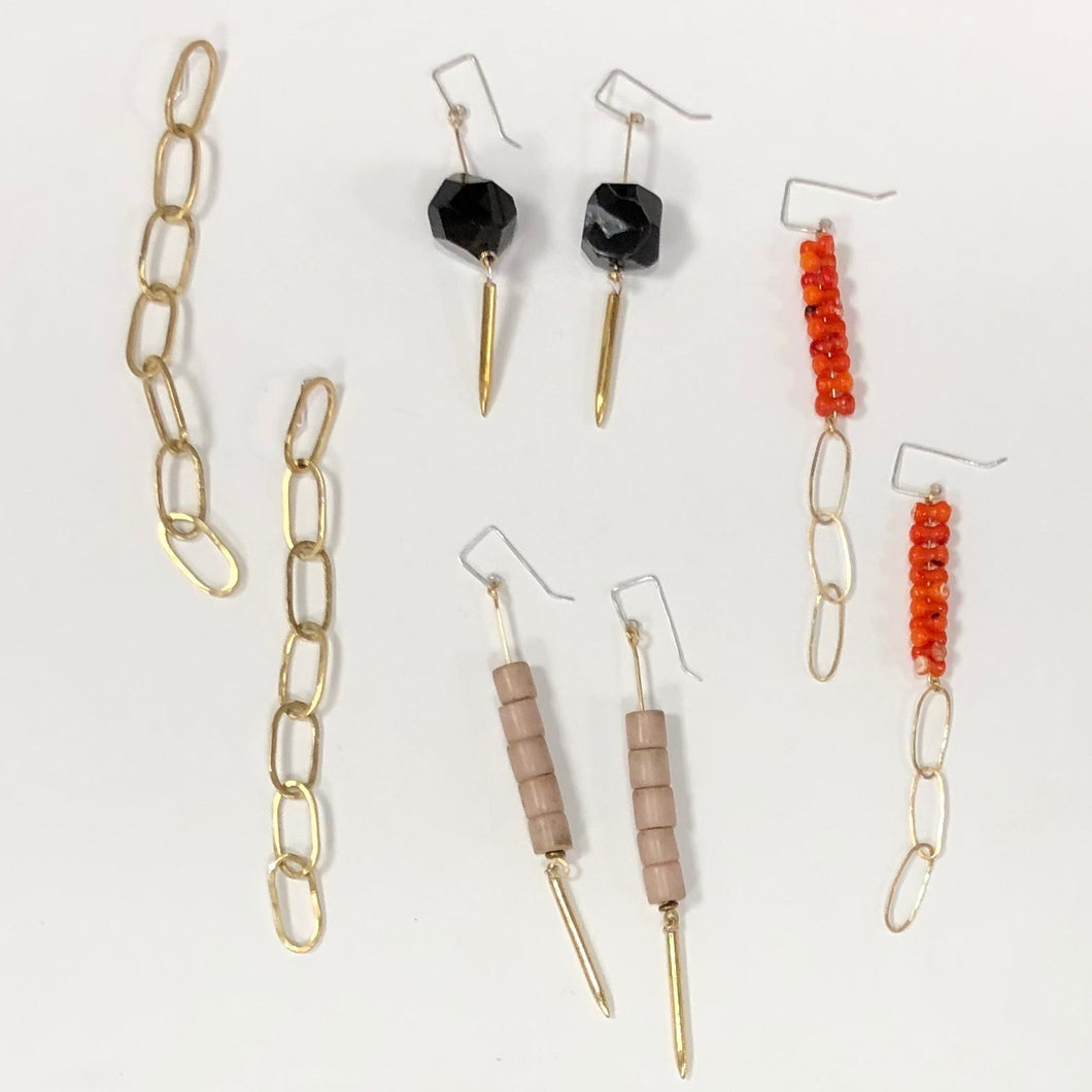 drop earrings, Caitlin Clary