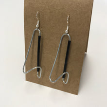 paperclip/straw earrings