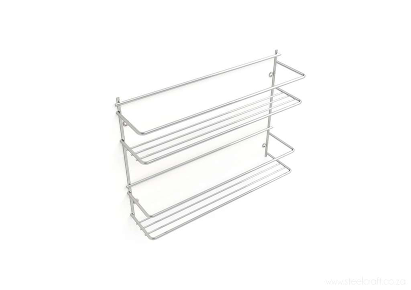 Steelcraft, Stainless Steel , Spice rack - two tier (wall mounted)