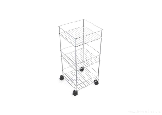 Steelcraft, Stainless Steel , Bathroom stand on castor 3 tier