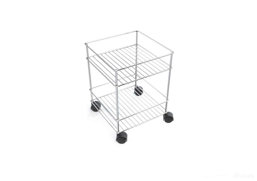 Steelcraft, Stainless Steel , Bathroom stand on castor 2 tier