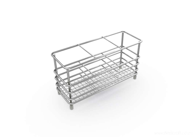 Steelcraft, Stainless Steel, Cutlery holder (rectangular)