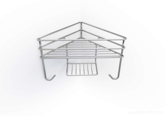 Corner Shower Organiser - Single, Corner Shower Organiser - Single, Bathroom Ware, Steelcraft, steelcraft.co.za , www.steelcraft.co.za