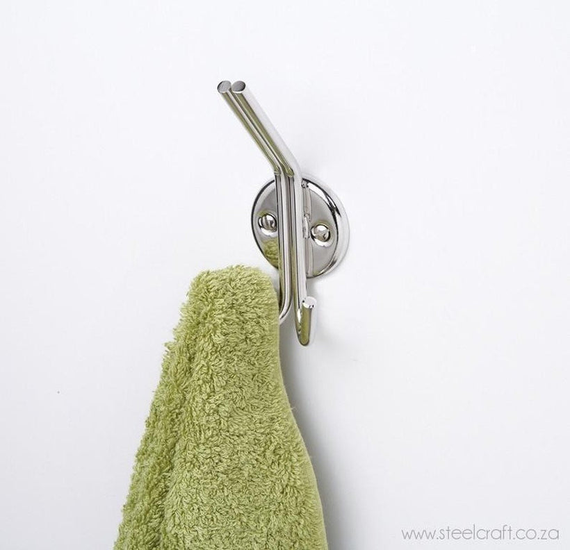 Classic Double Hook, Classic Double Hook, Bathroom Ware, Steelcraft, steelcraft.co.za , www.steelcraft.co.za