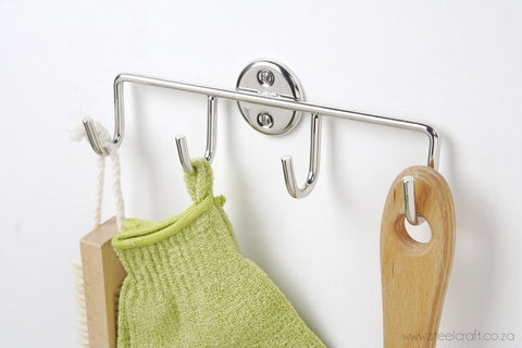 Classic Hook Rack, Classic Hook Rack, Bathroom Ware, Steelcraft, steelcraft.co.za , www.steelcraft.co.za