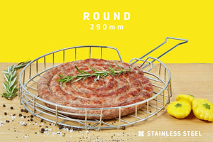 Braai Grid - Round Adjustable Depth With Slide Away Handle - Steelcraft