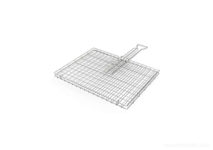 Braai Grid -Standard Hinge Lid with Slide Away Handles - Steelcraft
