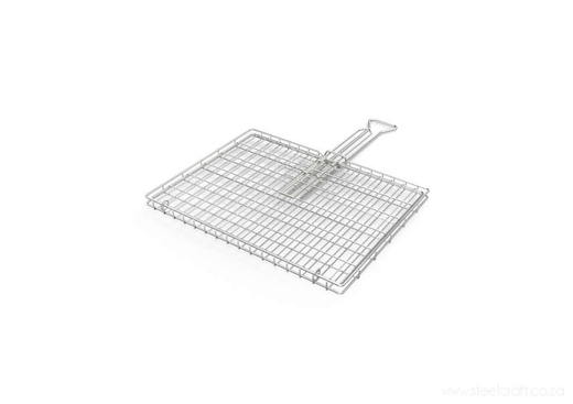 Braai Grid -Standard Hinge Lid with Slide Away Handles, Braai Grid -Standard Hinge Lid with Slide Away Handles, Braai Ware, Steelcraft, steelcraft.co.za , www.steelcraft.co.za