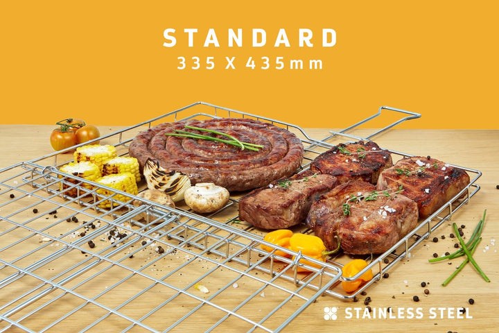 Braai Grid -Standard Hinge Lid with Slide Away Handles, Braai Grid -Standard Hinge Lid with Slide Away Handles, Braai Ware, Steelcraft, Steelcraft , www.steelcraft.co.za