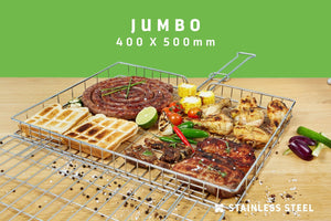 Braai Grid -  Jumbo Adjustable Depth - Steelcraft