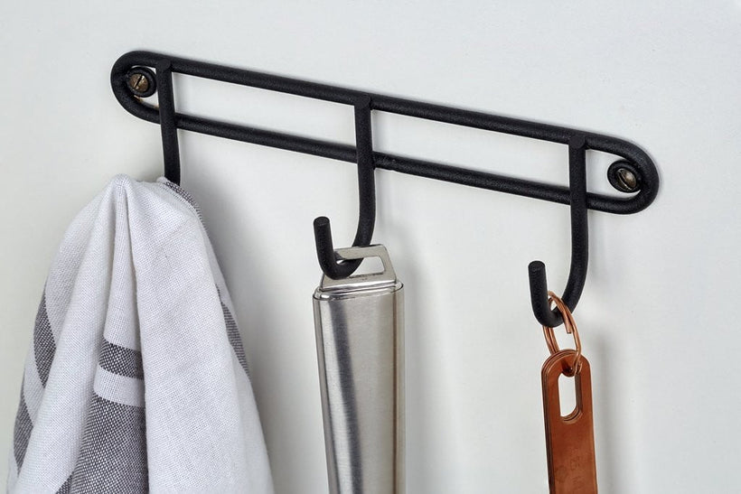 3 hook rack (wall mounted) Matt Black, 3 hook rack (wall mounted) Matt Black, Kitchen Ware, Steelcraft, Steelcraft , www.steelcraft.co.za