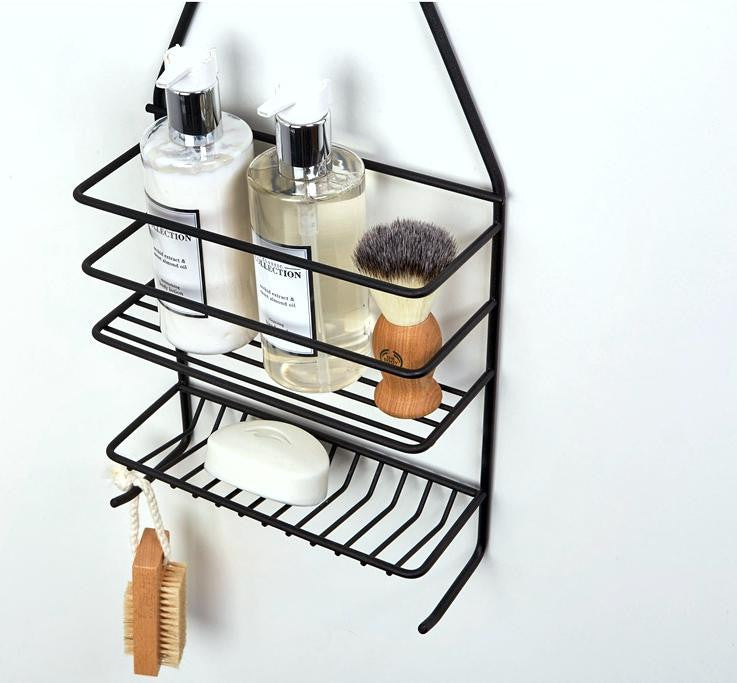 Shower caddy - medium Matt Black – Steelcraft