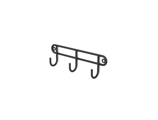 Steelcraft, Stainless Steel , Matt Black , 3 hook rack (wall mounted) Matt Black
