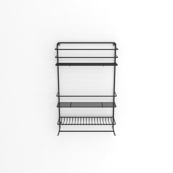 Shower Organiser Matt Black - Steelcraft