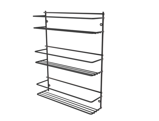 Steelcraft, Stainless Steel , Matt Black , Spice rack - three tier (wall mounted) Matt Black