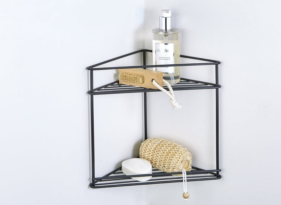 Corner Shelf 2-tier Matt Black, Corner Shelf 2-tier Matt Black, Bathroom Ware, Steelcraft, Steelcraft , www.steelcraft.co.za