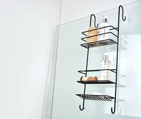 Hook Over Shower Caddy (Large) Matt Black - Steelcraft