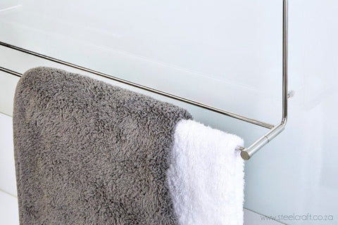 Hook Over Shower Double Towel Rail (Fold Up), Hook Over Shower Double Towel Rail (Fold Up), Bathroom Ware, Steelcraft, Steelcraft , www.steelcraft.co.za