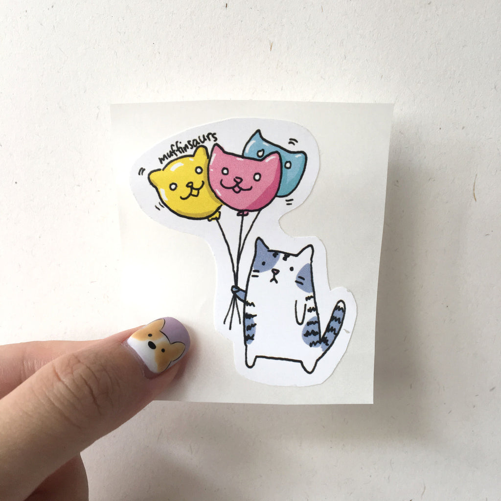 Balloon Cat Sticker