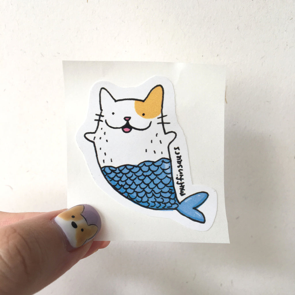 Sashimi the Catfish Sticker
