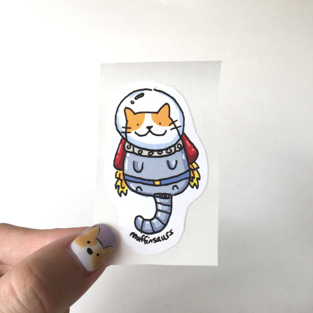 Catstronaut Sticker