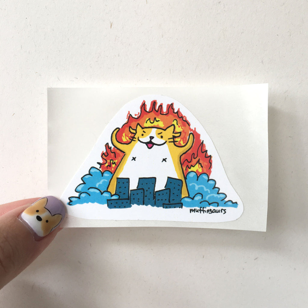 Catzilla Sticker