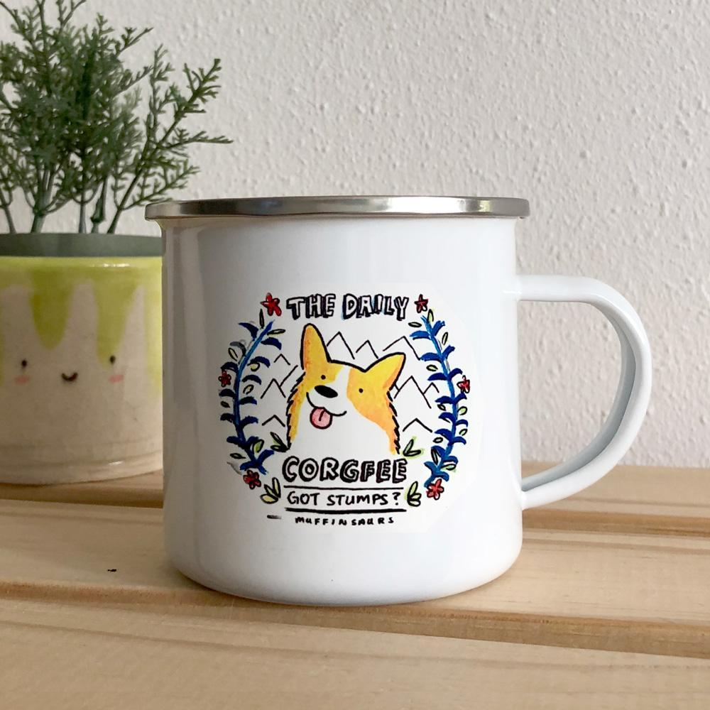 The Daily Corgfee Enamel Mug