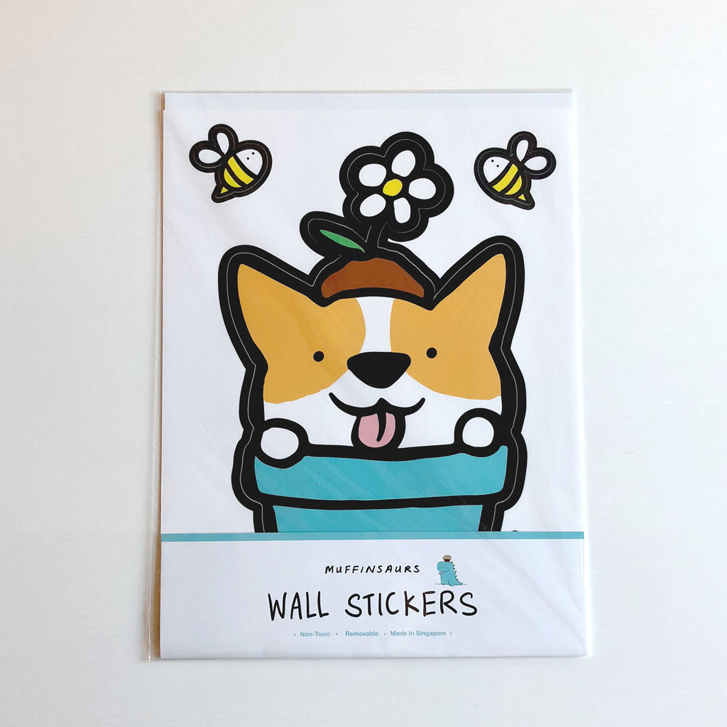 Potted Corgi Wall Sticker