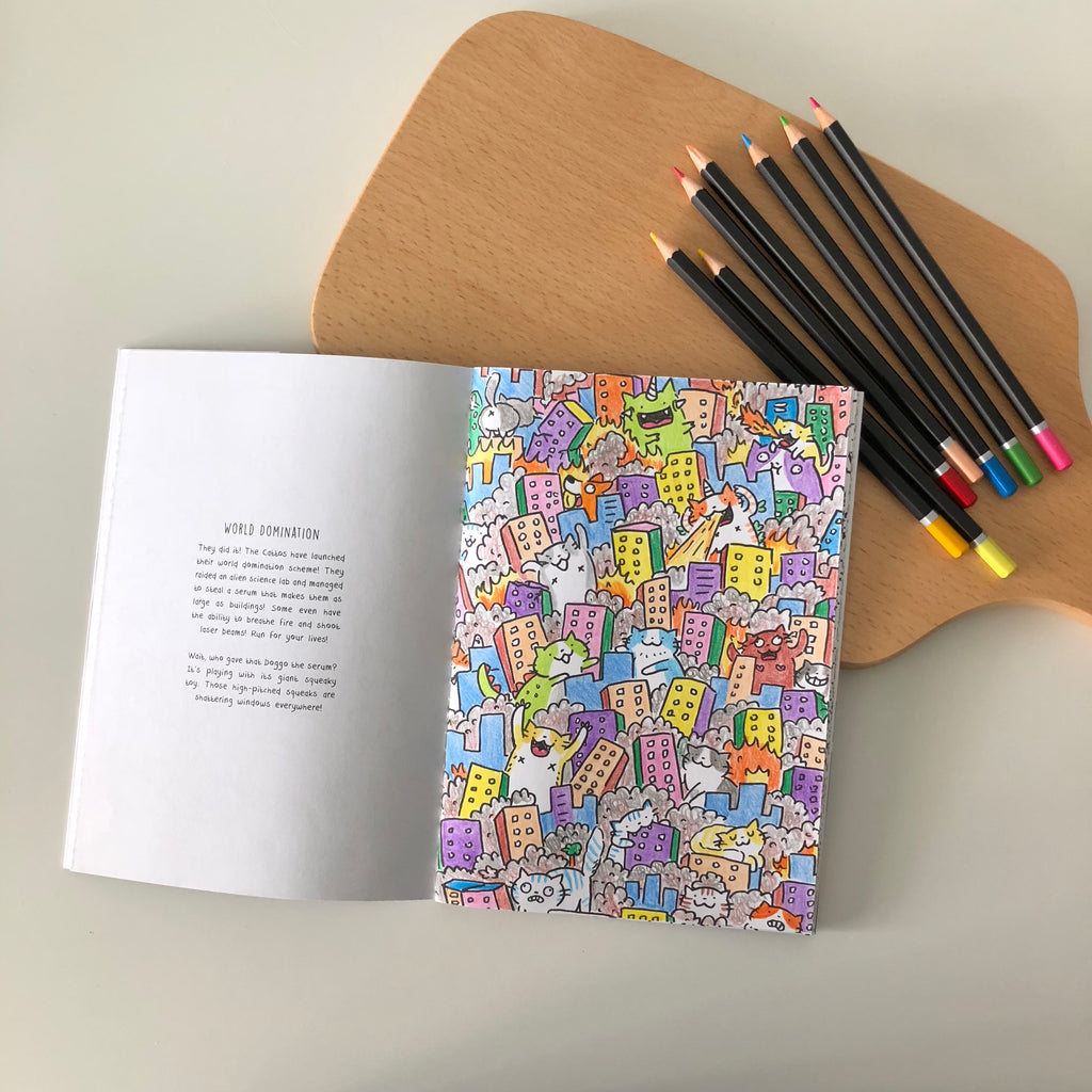 Creatures Colouring Book Set