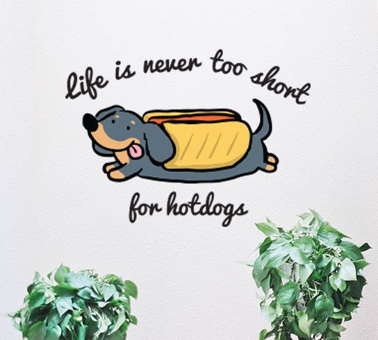 Hotdog Quote Wall Decal