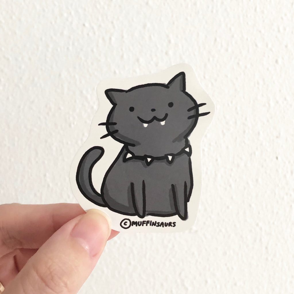 Black Panther Cat Sticker