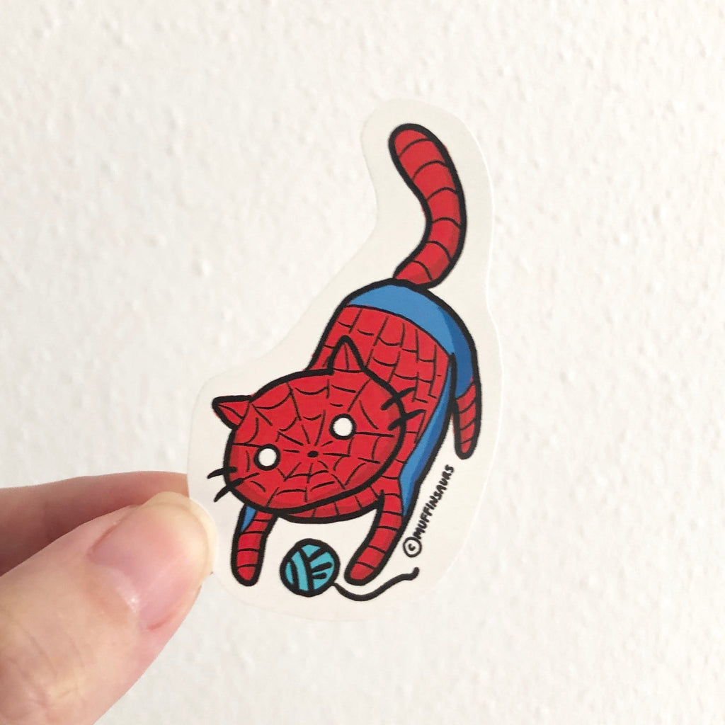 Spider Cat Sticker