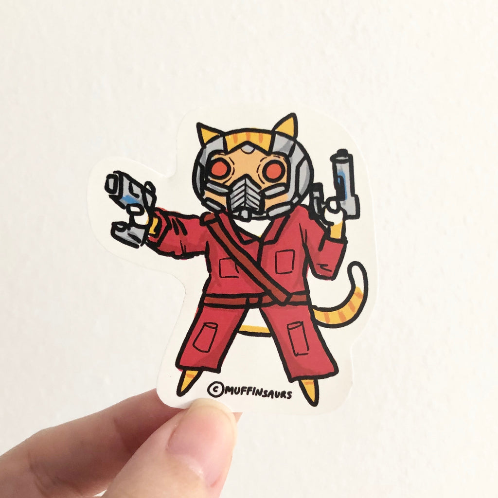 Star 'Lord' Cat Sticker