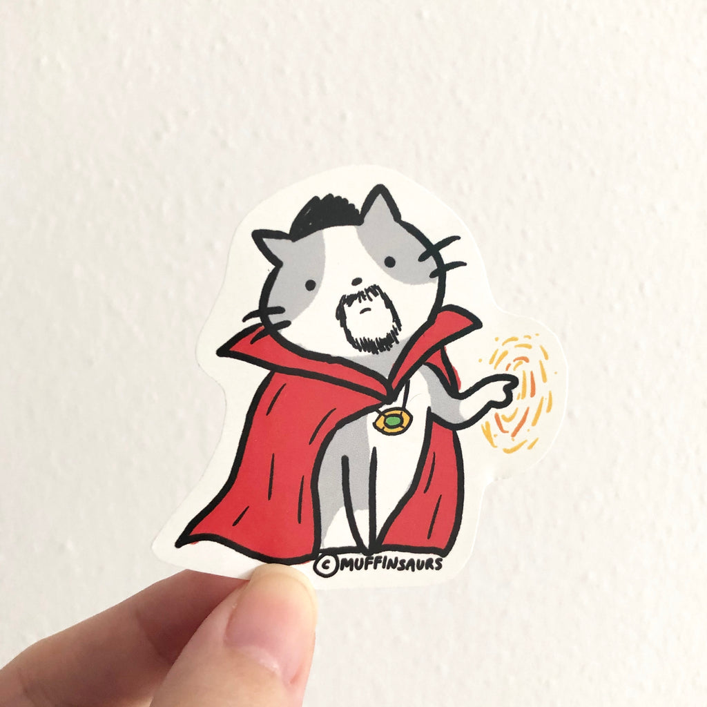 Doctor Strange Cat Sticker