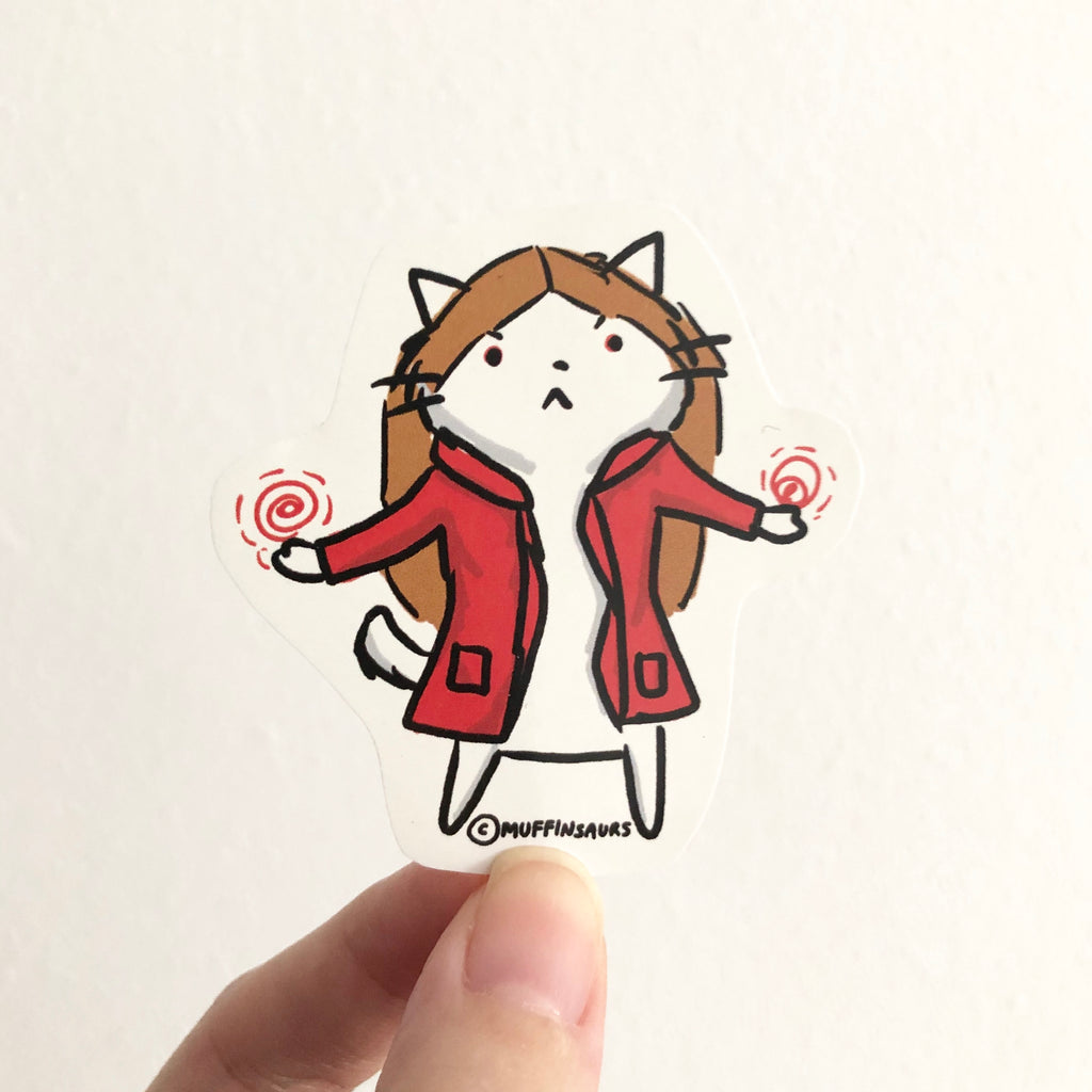 Scarlet Witch Cat Sticker