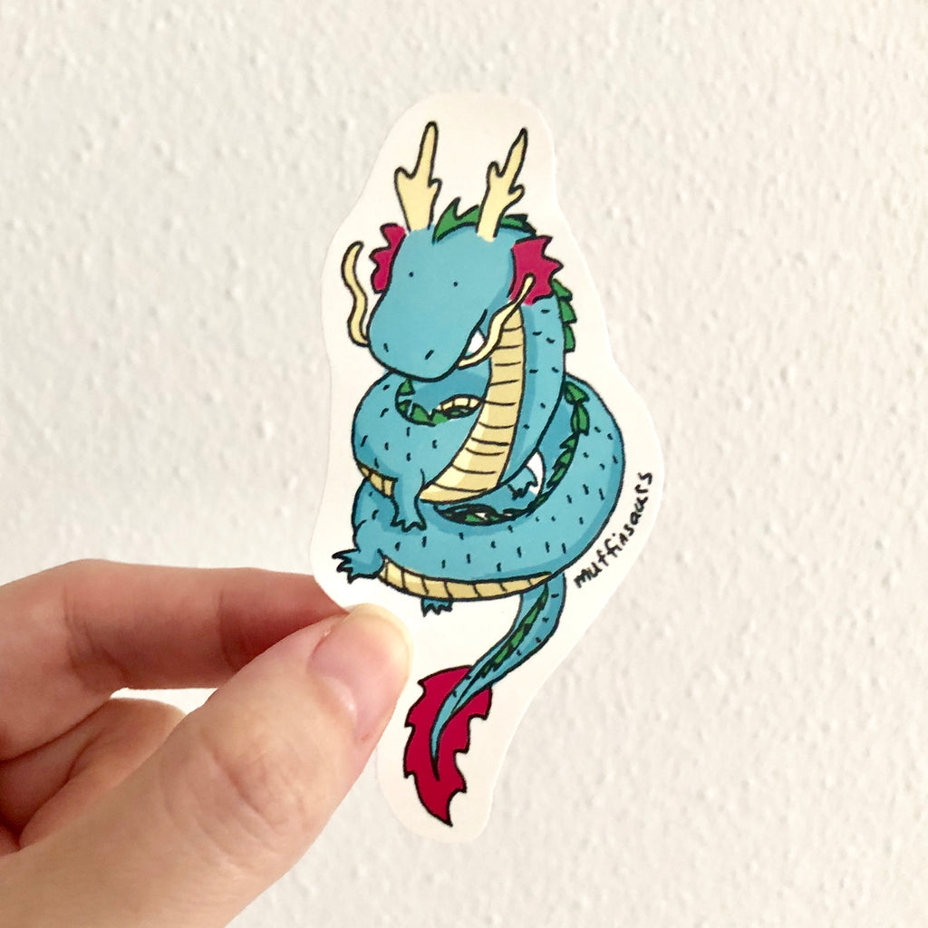 Oriental Dragon Sticker
