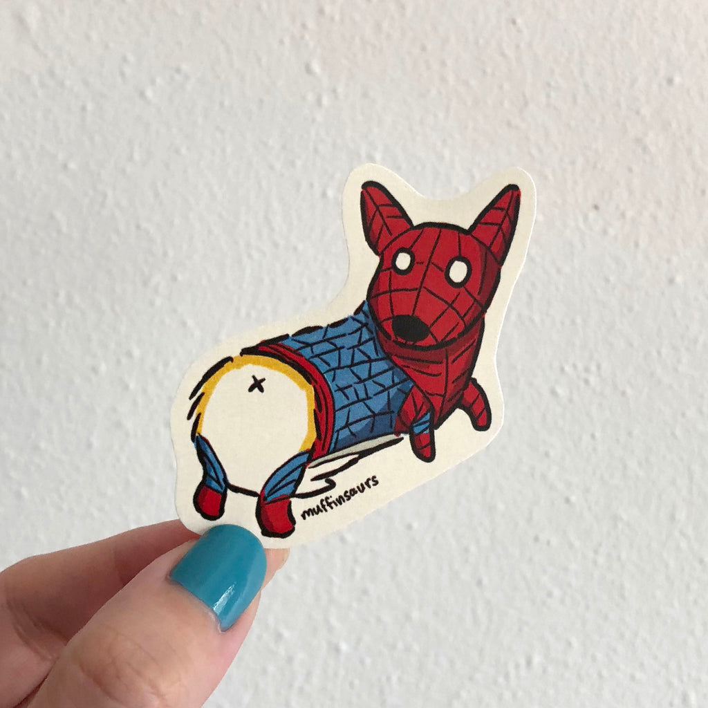 Spider Corgi Sticker