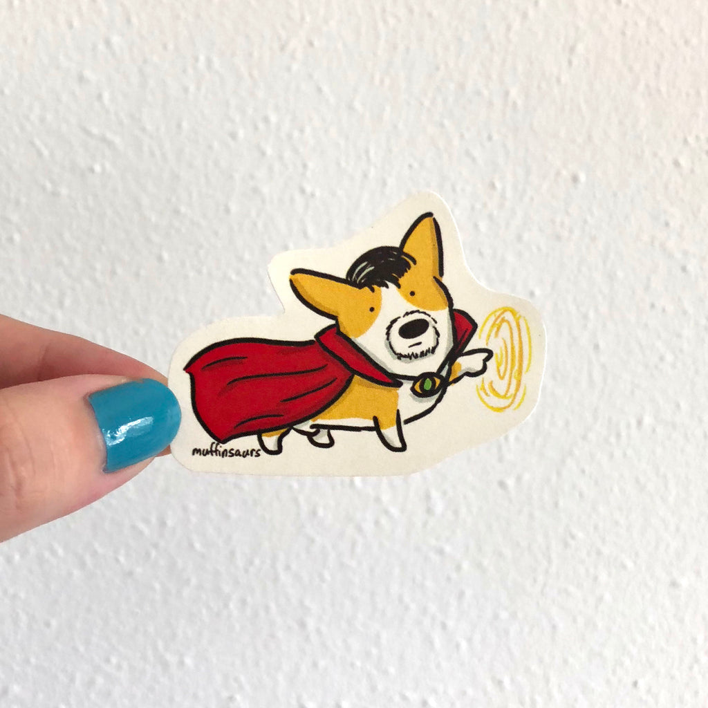 Doctor Corgi Sticker