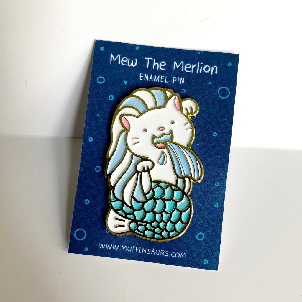 Mew the Merlion Pin