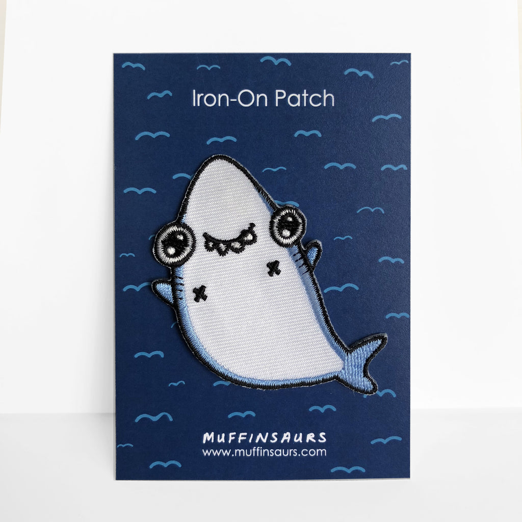 Derp the Shark Iron-On Patch