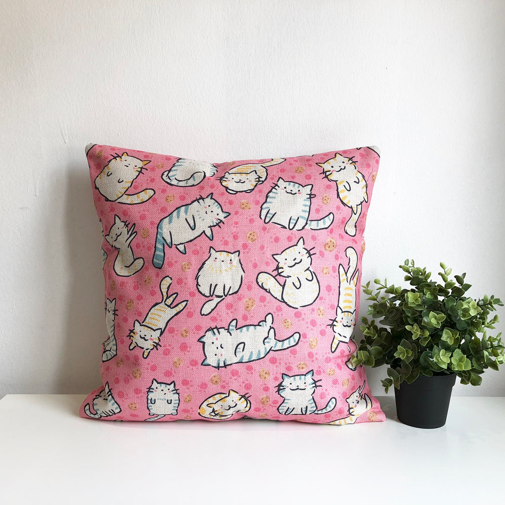 Cookies & Kitties Cushion Cover
