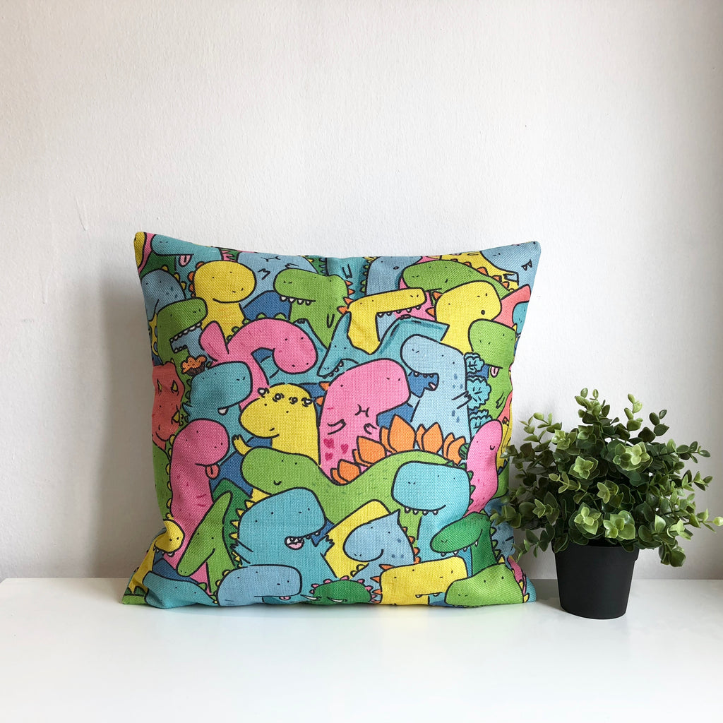 Dino Party Cushion Cover