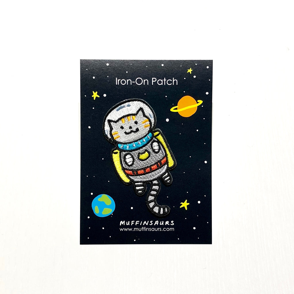 Astro Cat Iron-On Patch