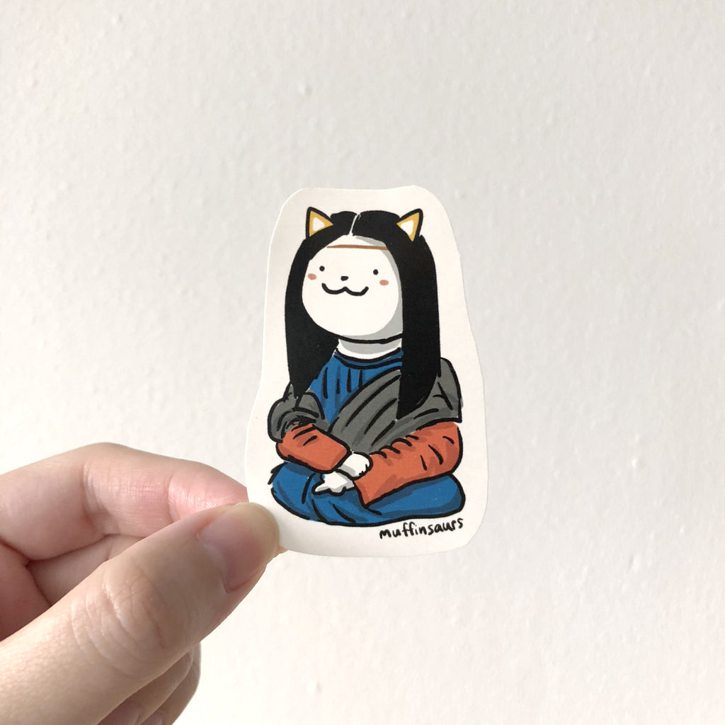 Maona Lisa Cat Sticker