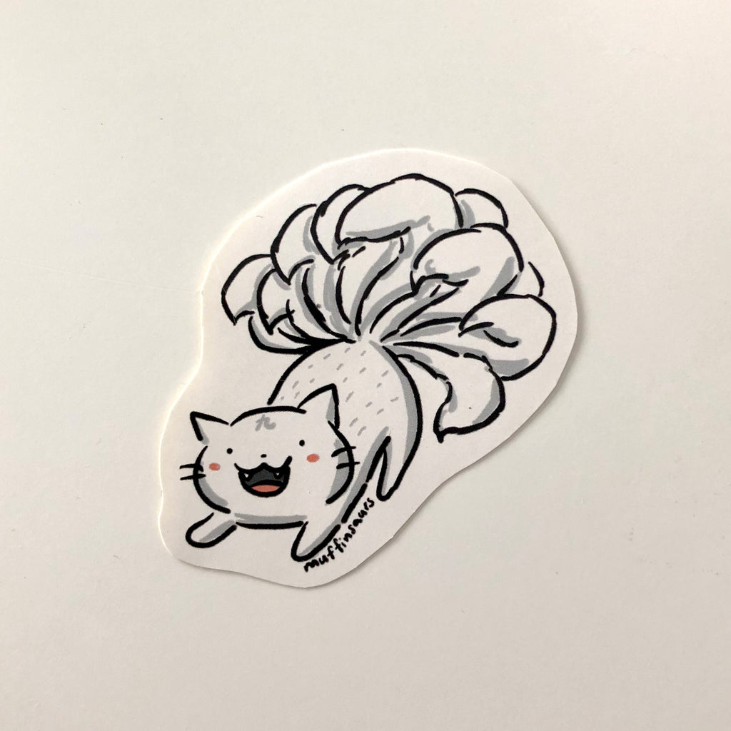 Nine Tailed Cat Sticker