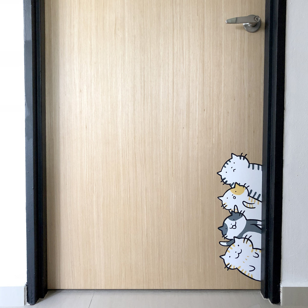 Peeking Cats Wall Sticker