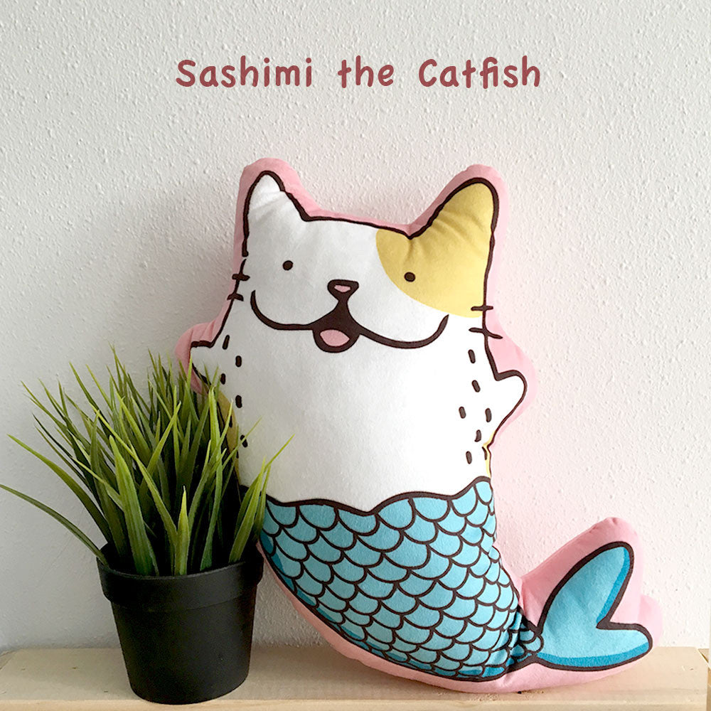 Sashimi the Catfish Cushion