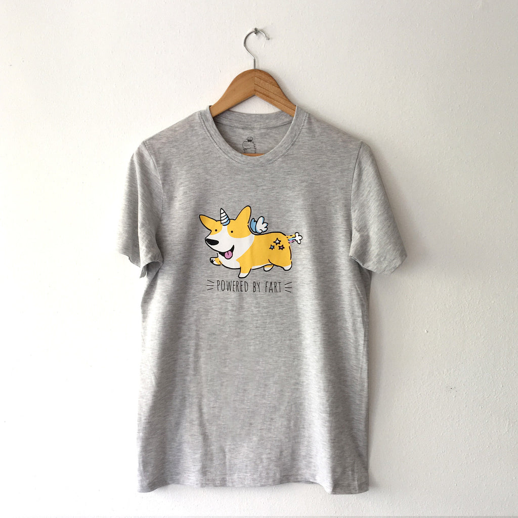 Powered by Fart Corgi Tee